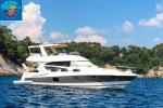 Yacht JEANNEAU PRESTIGE 50 FLY vendu avec place de port à TOULON de 18 mètres en location annuelle. 3 cabines, 3 SdB, cabine matelot . 195H de marche. 510 000 €