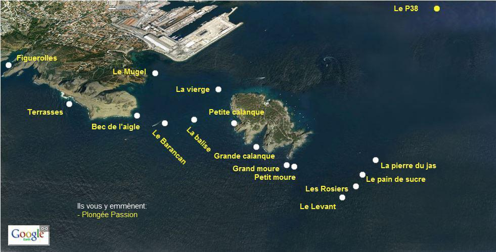 Sites de plongée à La Ciotat